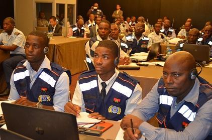 Staff from the Angolan Civil Protection Service listen to a presentation during the disaster loss database event in their country's capital Luanda (Photo: Angolan Civil Protection Service)
