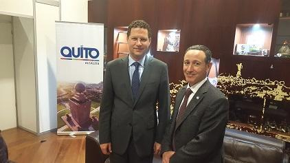 The Mayor of Quito, Mr. Mauricio Rodas (left) with head of UNISDR, Robert Glasser. The Mayor highlighted the need for transfer of resources to the local level if the New Urban Agenda is to be implemented.