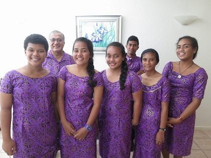The Pacific youth ambassadors on the eve of departure for the High School Students Islands Summit in Okinawa, Japan