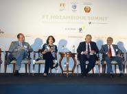 From left: Marim Faria e Maya, Tony Blair Institute: Mami Mizutori, UNDRR; Geoffrey White, CEO, Agility Africa; Francisco Pereira, Mozambican Reconstruction Authority