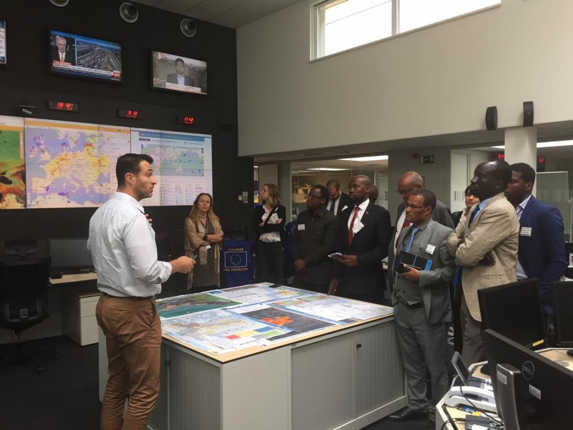 Disaster risk management officials from Africa visited the European Response Coordination Centre this week in Brussels