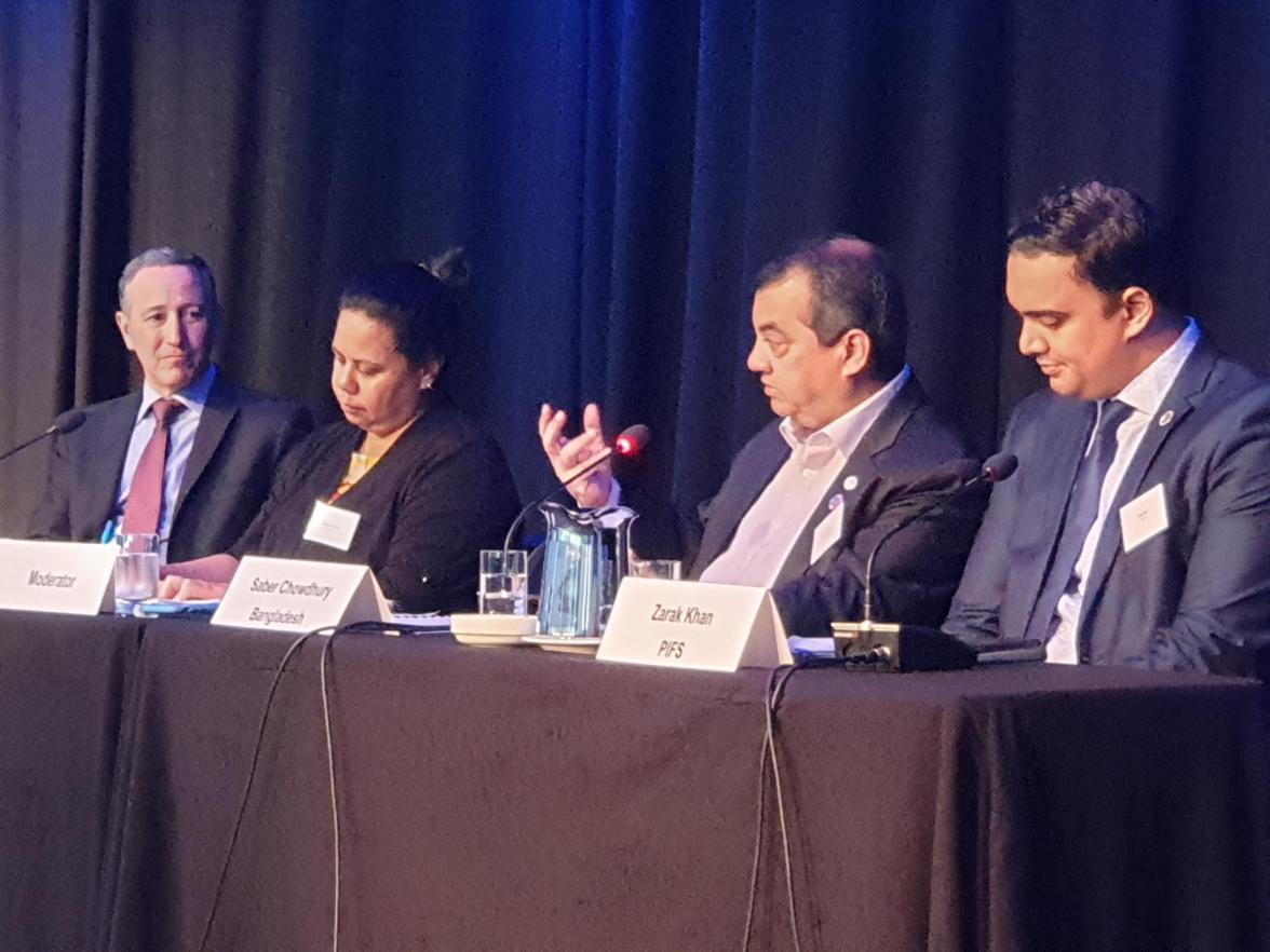 The Hon. Saber Chowdhury, Member of Parliament of Bangladesh, spoke on the need to increase investment in disaster prevention at the Asia-Pacific Partnership Forum for Disaster Risk Reduction, in Brisbane, Australia on 12 November.