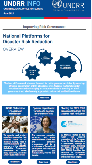 UNDRR INFO June 2020 cover page