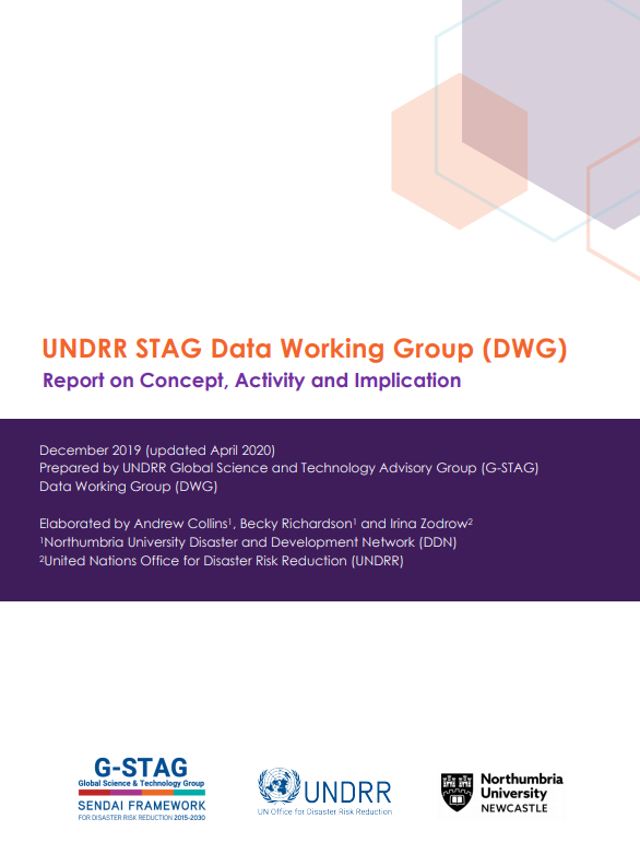 Cover image of the STAG Data Working Group report